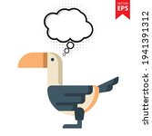 cute cartoon toucan with...