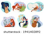 female characters playing wind... | Shutterstock .eps vector #1941402892