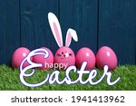 Happy Easter. One Egg With...