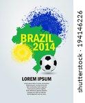 soccer ball poster soccer ball... | Shutterstock .eps vector #194146226