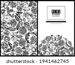 Menu Cover Floral Design With...