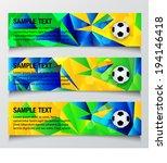 vector soccer banner in brazil... | Shutterstock .eps vector #194146418