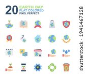 icon set of earth day  ecology...