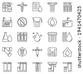 water treatment outline icons... | Shutterstock .eps vector #1941470425