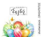 black lettering happy easter...   Shutterstock .eps vector #1941470722