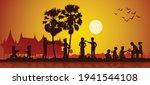 activities of song kran day... | Shutterstock .eps vector #1941544108