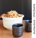dried shredded pork  pork floss ... | Shutterstock . vector #194156696