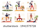 collection of home gym workout... | Shutterstock .eps vector #1941575728