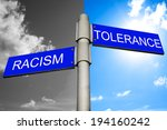 equality concept   street signs ... | Shutterstock . vector #194160242
