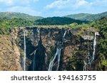 jog or joga falls in india. a... | Shutterstock . vector #194163755