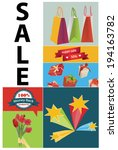 vector sale illustration with... | Shutterstock .eps vector #194163782