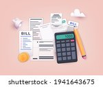 pay bills and tax. payment of... | Shutterstock .eps vector #1941643675