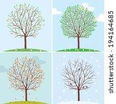 Seasons. Trees In Spring ...