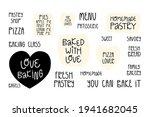 cute bakery slogans  lettering... | Shutterstock .eps vector #1941682045