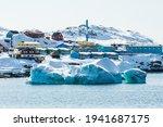 Iceberg In Front Of Coastal...