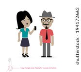 woman and man   two characters... | Shutterstock .eps vector #194172662