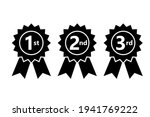 1st 2nd 3rd place ribbon... | Shutterstock .eps vector #1941769222