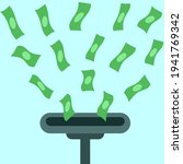 vacuum money illustration.... | Shutterstock .eps vector #1941769342