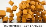 abstract 3d cubes background.... | Shutterstock . vector #1941778288