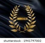 winner sign with golden laurel...   Shutterstock .eps vector #1941797002