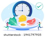 vector illustration of a meal... | Shutterstock .eps vector #1941797935