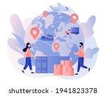 global logistics network.... | Shutterstock .eps vector #1941823378