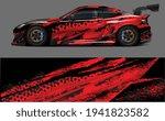 red grunge drift race car wrap... | Shutterstock .eps vector #1941823582