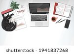 coworking home office interior... | Shutterstock .eps vector #1941837268