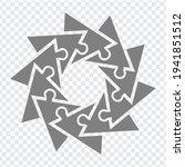 simple icon triagles puzzle in...