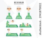 set of salah  sholat  shalat ... | Shutterstock .eps vector #1941870022