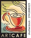 art cafe artistic poster... | Shutterstock .eps vector #1941888325
