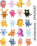 vector collection of animals 38 | Shutterstock .eps vector #19419187