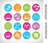 network icons set  social media ... | Shutterstock .eps vector #194194238