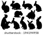 set of different rabbits | Shutterstock .eps vector #194194958