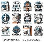 galaxy exploration vector icons.... | Shutterstock .eps vector #1941970228