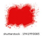 red grunge dirty splash banner. | Shutterstock .eps vector #1941993085