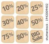 cardboard discount sticker set. ... | Shutterstock .eps vector #1942009402