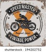 vintage motorbike race   hand... | Shutterstock .eps vector #194202752