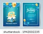 63rd years birthday vector...   Shutterstock .eps vector #1942032235