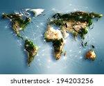 best internet concept of global ... | Shutterstock . vector #194203256