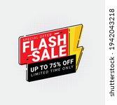flash sale discount special... | Shutterstock .eps vector #1942043218