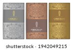 silver and gold vintage set of... | Shutterstock .eps vector #1942049215