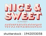 nice and sweet is a raised 3d... | Shutterstock .eps vector #1942053058