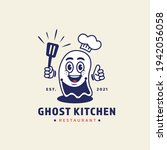 ghost chef holding spatula... | Shutterstock .eps vector #1942056058