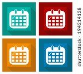 icon calendar with shadow... | Shutterstock .eps vector #194214128