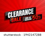 clearance sale background... | Shutterstock .eps vector #1942147288