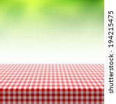 picnic table covered with... | Shutterstock .eps vector #194215475
