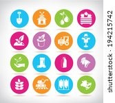 agriculture icons set | Shutterstock .eps vector #194215742