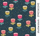 Cute Seamless Pattern With Pink ...