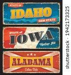 american states  idaho  iowa... | Shutterstock .eps vector #1942173325